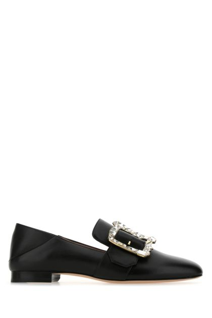 Black nappa leather Janelle loafers