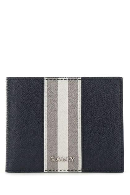 Navy blue leather Bevye wallet