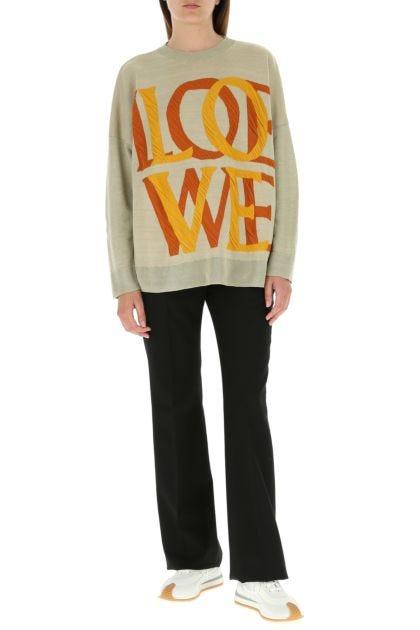 Cappuccino stretch linen blend sweater