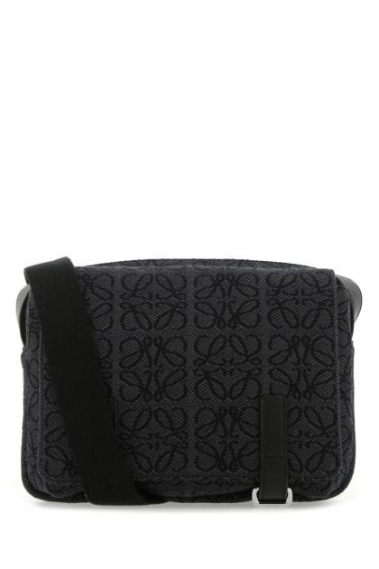 Embroidered canvas XS Military Messenger crossbody bag