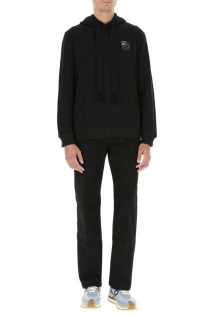 Black cotton sweatshirt