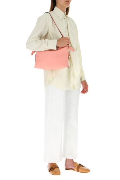 Pink nappa leather Flamenco clutch