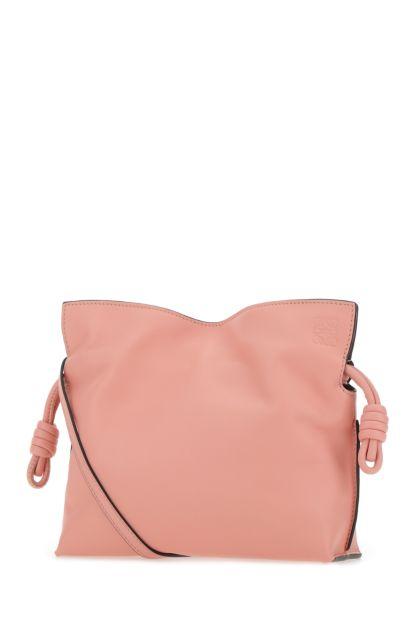 Pink nappa leather mini Flamenco clutch
