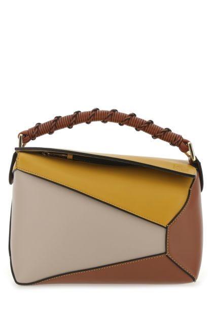 Multicolor leather small Puzzle handbag