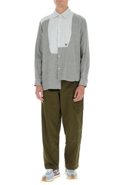 Army green cotton pant
