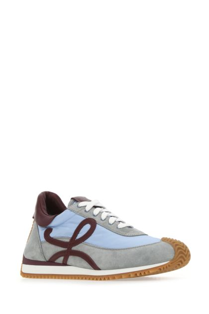 Multicolor suede and nylon Flow Runner sneakers