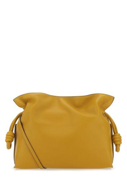 Ochre nappa leather medium Flamenco clutch