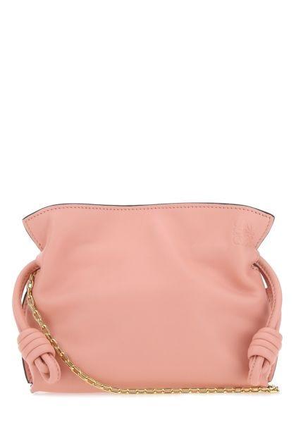 Pink nappa leather nano Flamenco clutch