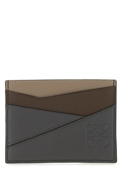 Multicolor leather Puzzle card holder