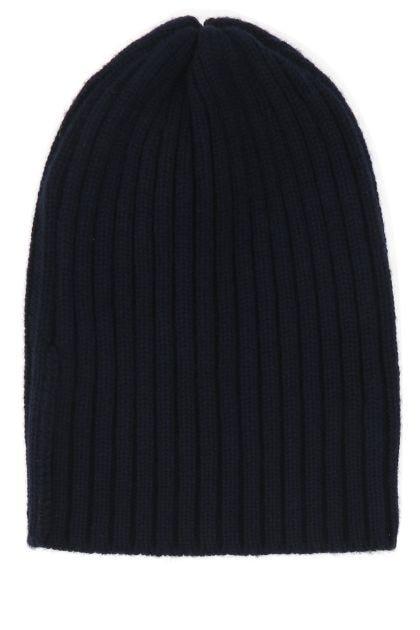 Midnight bue cashmere beanie hat