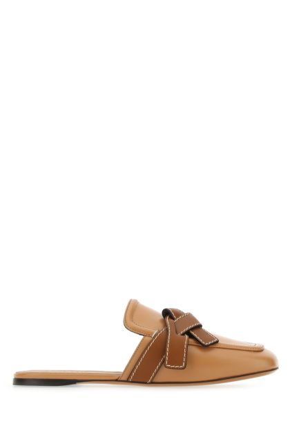Camel leather Gate slippers