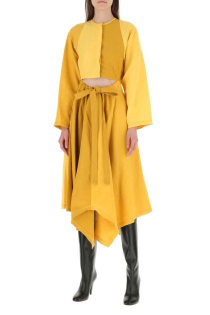 Multicolor lined blend dress
