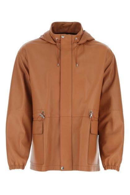Caramel nappa leather jacket