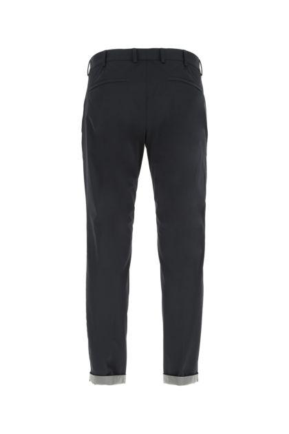Navy blue stretch nylon pant