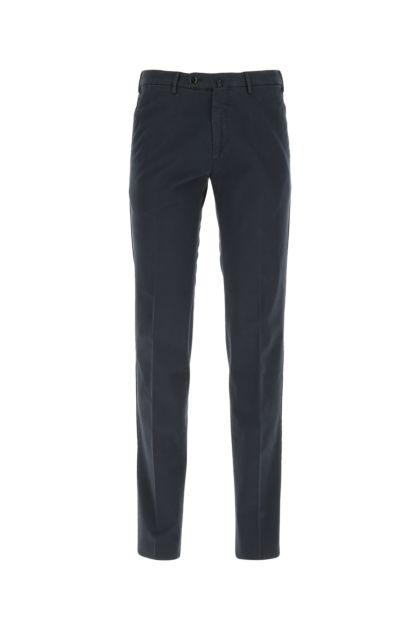 Navy blue stretch cotton pant