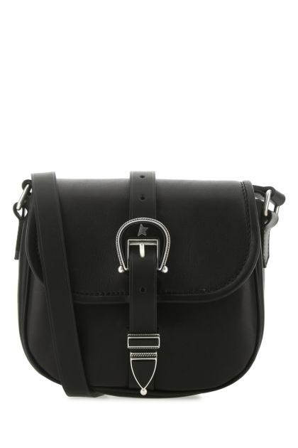 Black leather small Rodeo crossbody bag