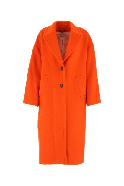 Orange wool blend Bertina coat