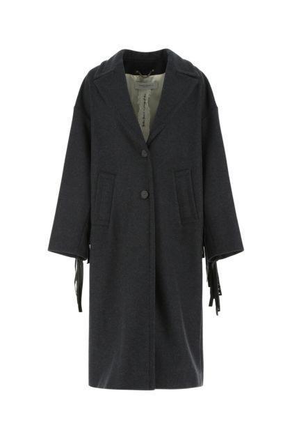 Charcoal wool blend Bertina coat