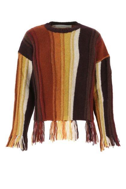 Multicolor alpaca blend Dunya sweater