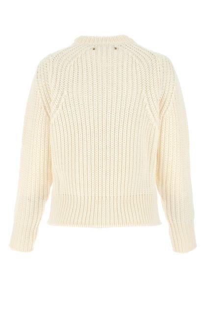 Ivory wool Dottie sweater