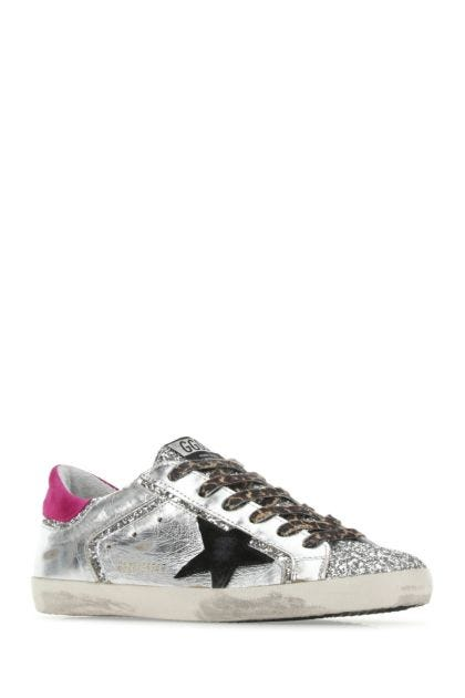 Multicolor leather and fabric Super Star Double Quarter sneakers