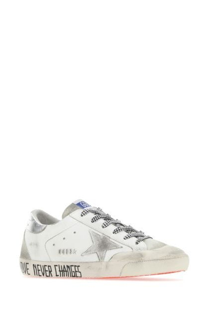 White leather Superstar Penstar sneakers