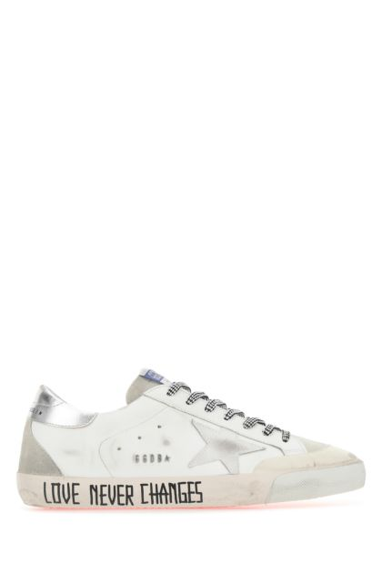 Two-tone leather and suede Super Star Penstar sneakers