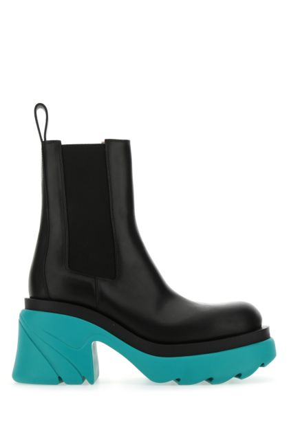 Black leather Flash boots
