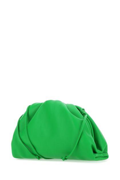 Grass green nappa leather mini Pouch clutch bag