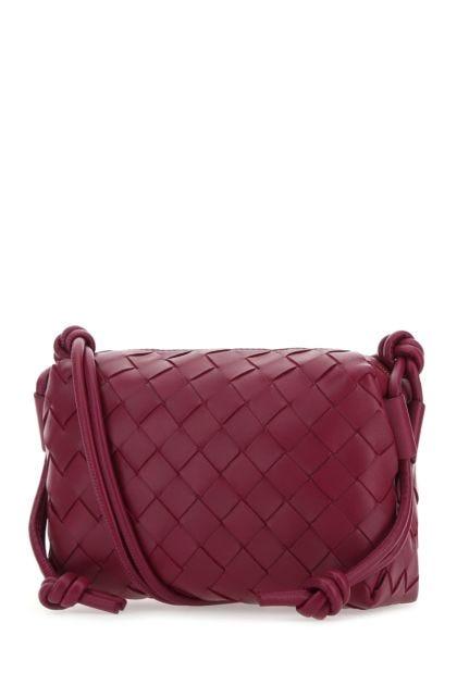 Tryan purple nappa leather Pouch crossbody bag