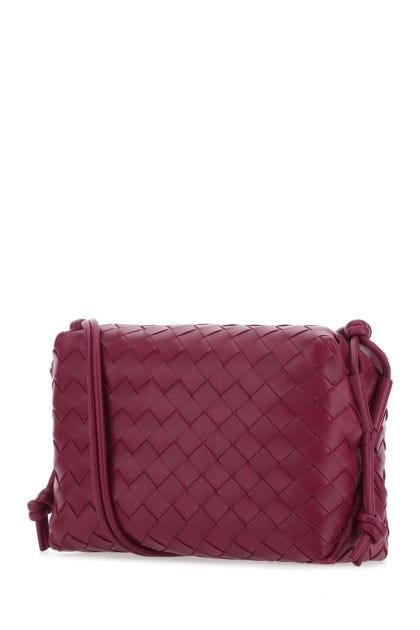 Tiryan purple nappa leather Loop shoulder bag