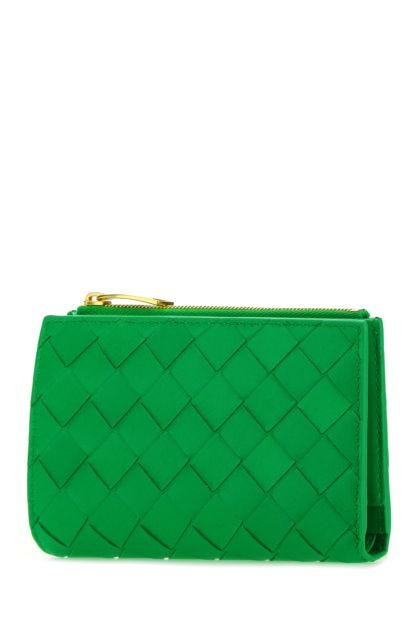 Grass green nappa leather wallet