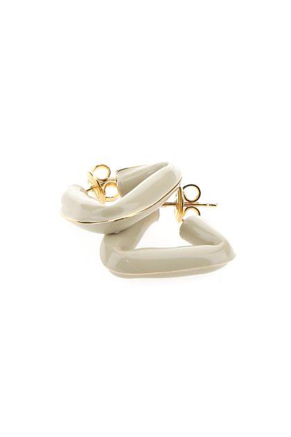 Sand 925 silver Fold earrings
