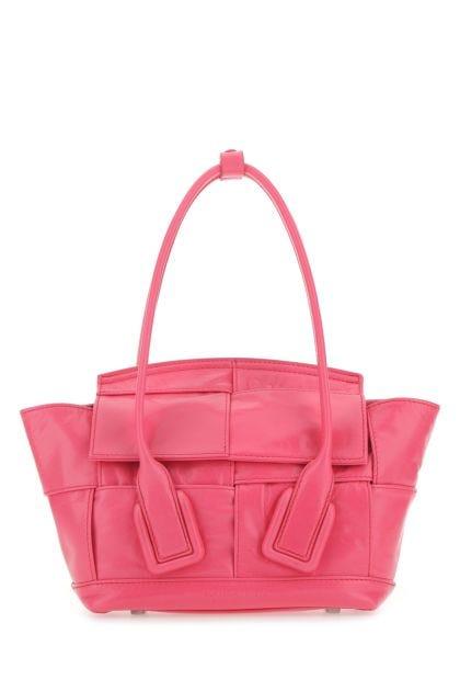Fuchsia leather mini Arco handbag