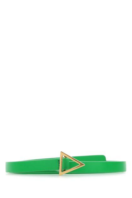 Grass green leather Triangle belt