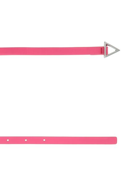 Pink leather Triangle belt