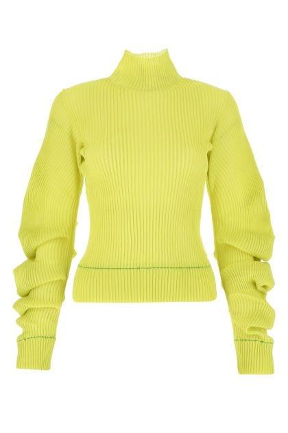 Acid green silk sweater