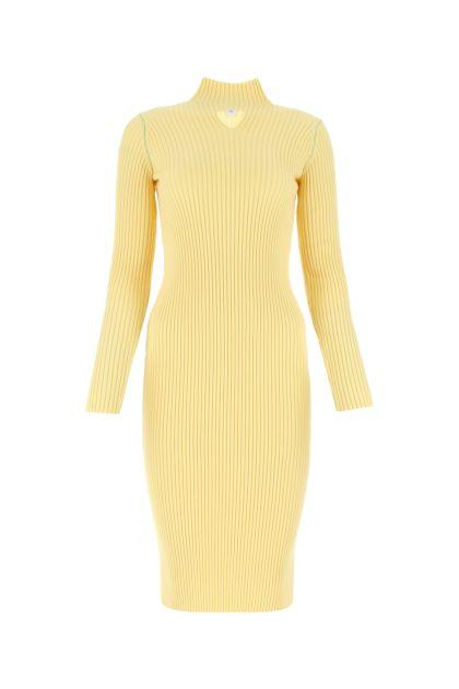 Cream wool blend dress