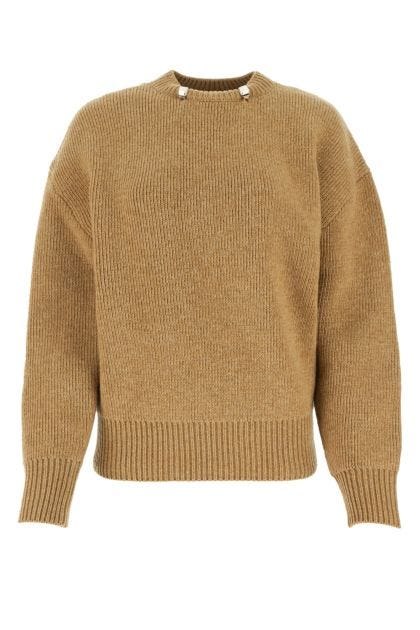 Biscuit wool sweater