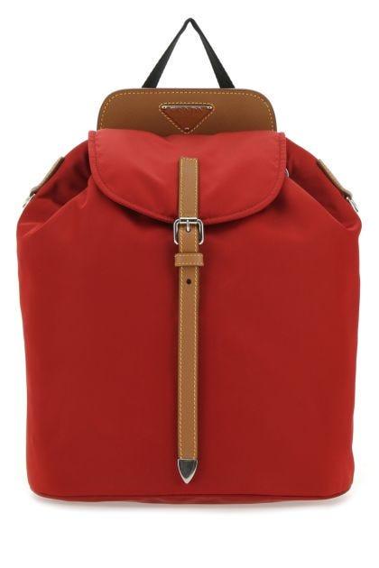Tiziano red nylon backpack