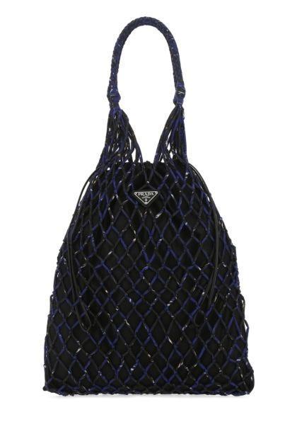 Two-tone fabric handbag