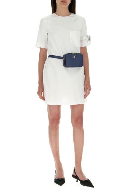 Navy blue  leather Odette belt bag