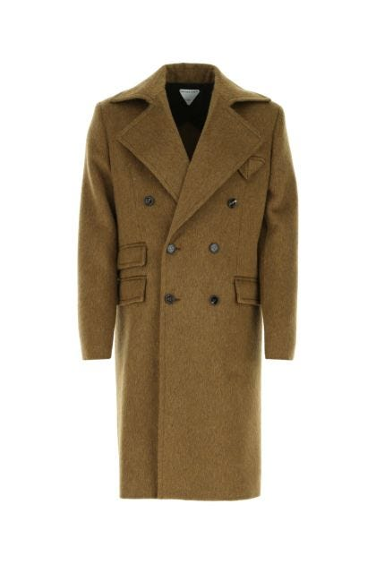 Khaki wool blend coat