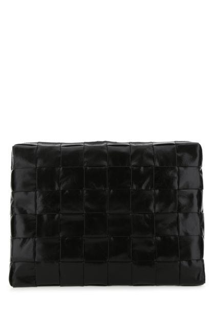 Black leather Cassette document case