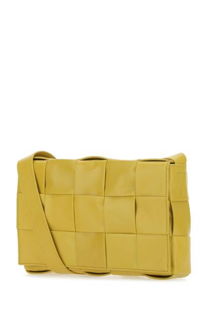 Mustard leather Cassette crossbody bag