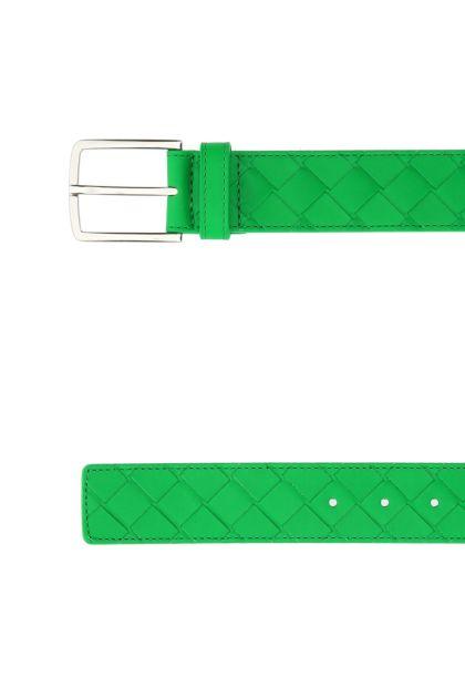 Grass green leather belt