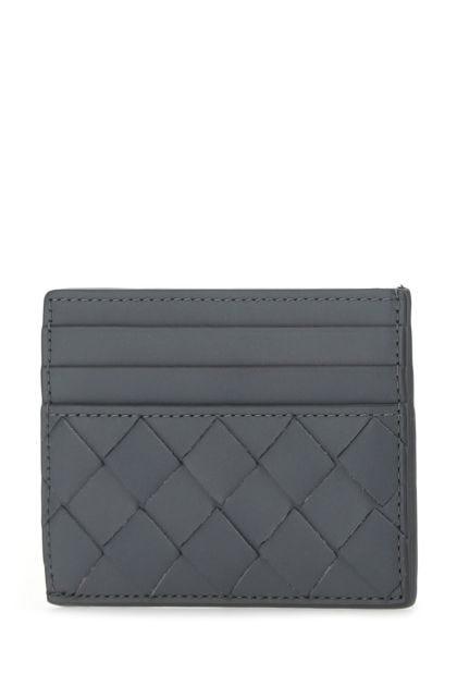 Dark grey leather card holder