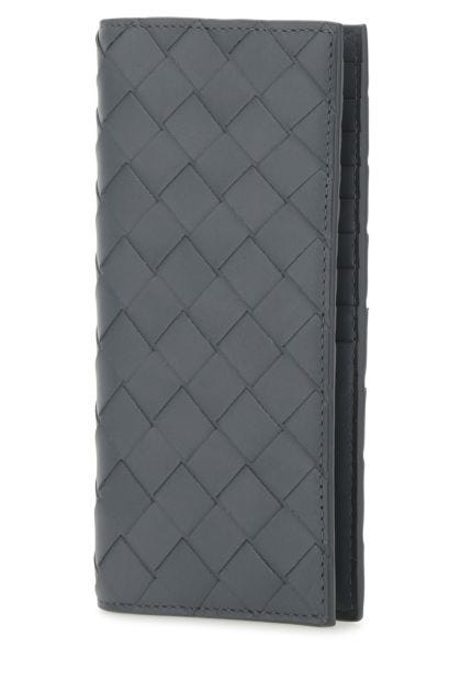 Grey leather Continental wallet