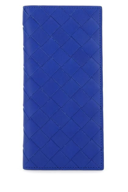 Electric blue leather wallet