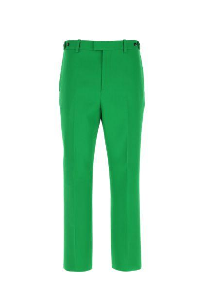 Grass green wool pant